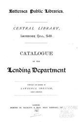 Catalogue of the Lending Department PDF