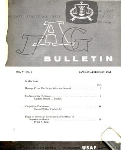 The United States Air Force JAG Bulletin PDF