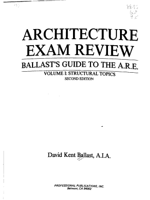 Architecture Exam Review  Structural topics PDF