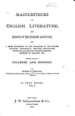 Masterpieces in English Literature  and Lessons in the English Language