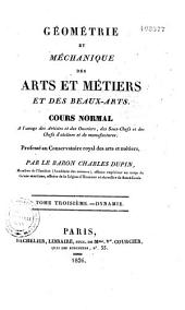 Géométrie et méchanique des arts et métiers et des beaux-arts
