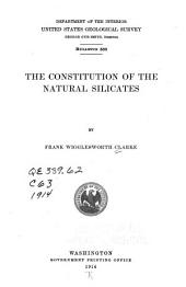The constitution of the natural silicates: Issues 587-590