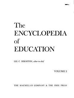 The Encyclopedia of Education PDF