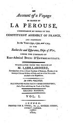 An Account of a Voyage in Search of La Pérouse