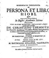 Diss. theol. de persona et libro Hiobi