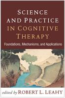 Science and Practice in Cognitive Therapy PDF
