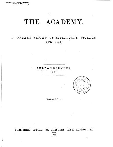 Download The Academy and Literature Book