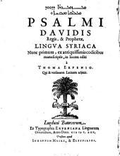 Mazmurē d-Dawid malkā w-nebiyā: lingua syriaca