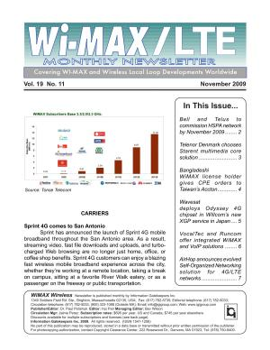 WiMAX Monthly Newsletter November 2009 PDF