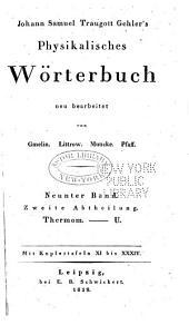 Physikalisches Wörterbuch: Band 9,Teil 2