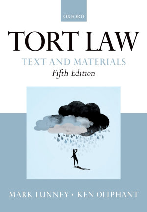 Tort Law  Text and Materials PDF
