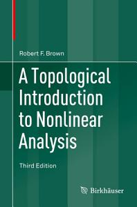 A Topological Introduction to Nonlinear Analysis PDF
