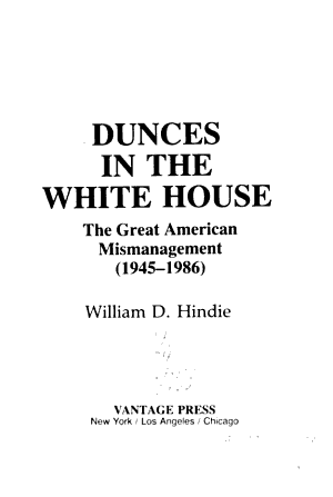 Dunces in the White House PDF