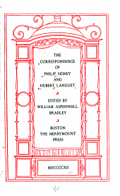 The Correspondence of Philip Sidney and Hubert Languet