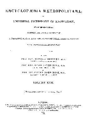 Encyclop  dia Metropolitana