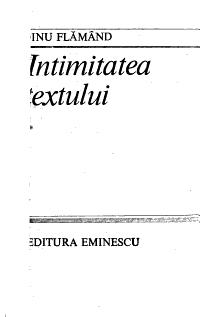 Intimitatea textului PDF