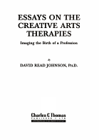 Essays on the Creative Arts Therapies PDF