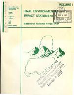 Bitterroot National Forest (N.F.) Plan (MT,ID)