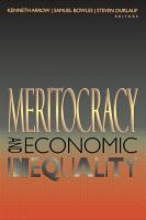 Meritocracy and Economic Inequality PDF