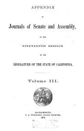 Journals of the Senate and Assembly California Legislature