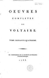 Oeuvres complètes de Voltaire...