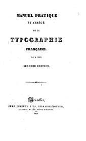 Manuel pratique et abrégé de la typographie française