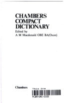 Chambers New Compact Dictionary PDF