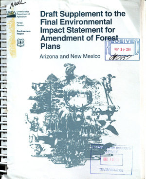 Southwestern Region Amendment of Forest Plans to Include Northern Goshawk and Mexican Spotted Owl Direction  AZ NM  PDF