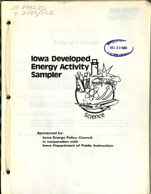 Iowa Developed Energy Activity Sampler  Science PDF