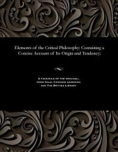 Elements of the Critical Philosophy PDF