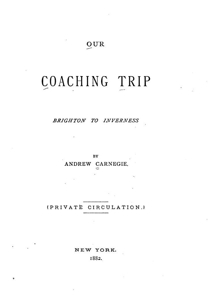 Our Coaching Trip