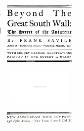 Beyond the great south wall: the secret of the Antarctic