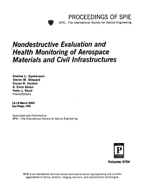 Nondestructive Evaluation and Health Monitoring of Aerospace Materials and Civil Infrastructures PDF