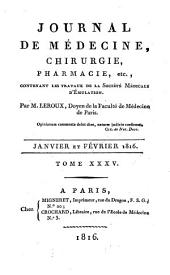 Journal de médecine, chirurgie, pharmacie, etc: Volume 35