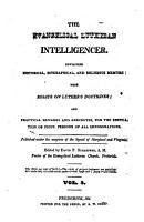 Evangelical Lutheran Intelligencer PDF