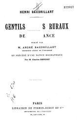 Gentilshommes ruraux de la France
