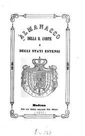 Almanacco della R. Corte e degli stati estensi: 1852