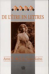 De l'être en lettres: l'autobiographie épistolaire de George Sand