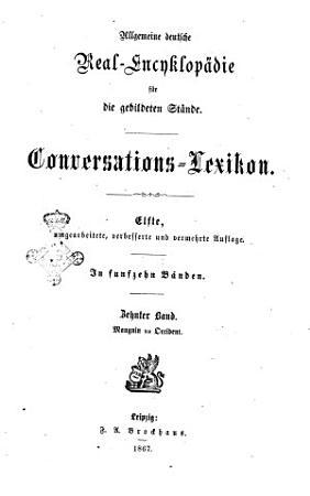 Conversations lexikon Allgemeine deutsche Real Encyklopadie fur die gebildeten stande PDF