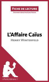 L'Affaire Caïus d'Henry Winterfeld: Résumé complet et analyse détaillée de l'oeuvre