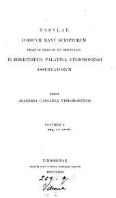Tabulae codicum manu scriptorum praeter Graecos et orientales in bibliotheca palatina Vindobonensi asservatorum. Ed. Academia Caesarea Vindobonensis: Volumes 1-2