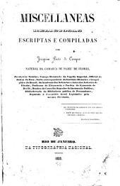 Miscellaneas: escriptas e compiladas