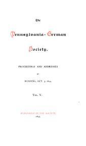 Proceedings and Addresses: Volumes 5-6