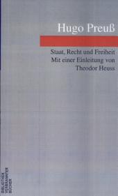 Staat, Recht und Freiheit: aus vierzig Jahren deutscher Politik und Geschichte