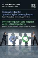 Comparative Law for Spanish   English Speaking Lawyers PDF