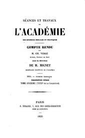 Séances et travaux de l'Académie des Sciences Morales et Politiques: comptes rendus, Volume31