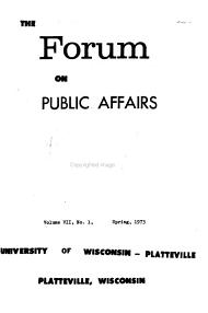 Forum on Public Affairs PDF
