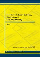 Frontiers of Green Building  Materials and Civil Engineering PDF