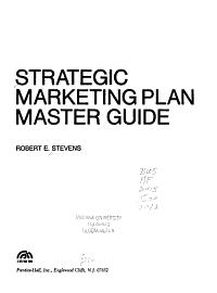Strategic Marketing Plan Master Guide