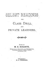 Select Readings for Class Drill and Private Learners